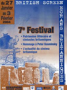 Affiche Festival Ecrans Britanniques 2004