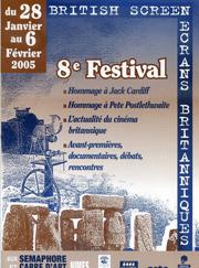 Affiche Festival Ecrans Britanniques 2005