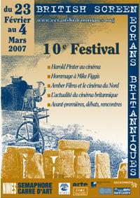 Affiche Festival Ecrans Britanniques 2007